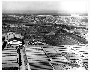 Primary view of object titled 'Aerial View of the Fort Worth Stockyards'.