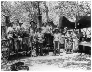 Primary view of object titled '1921 Baptist Paisano Encampment, Kitchen Staff'.