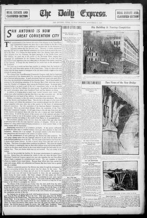 Primary view of The Daily Express. (San Antonio, Tex.), Vol. 45, No. 331, Ed. 1 Sunday, November 27, 1910