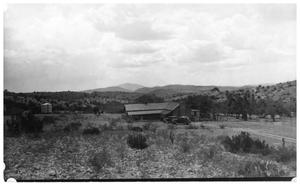 Primary view of object titled '[Landscape with automobile]'.