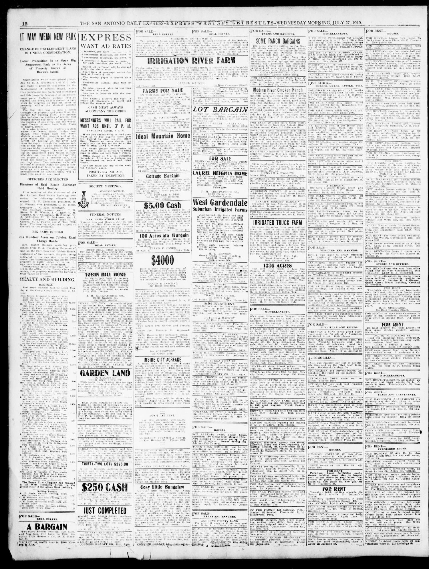 The Daily Express  (San Antonio, Tex ), Vol  45, No  208, Ed