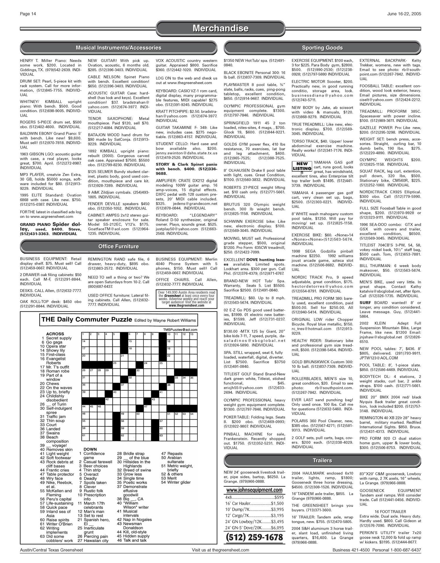 The Greensheet (Austin, Tex ), Vol  28, No  18, Ed  1 Thursday, June