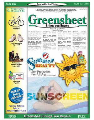 Primary view of object titled 'The Greensheet (Austin, Tex.), Vol. 28, No. 15, Ed. 1 Thursday, May 26, 2005'.