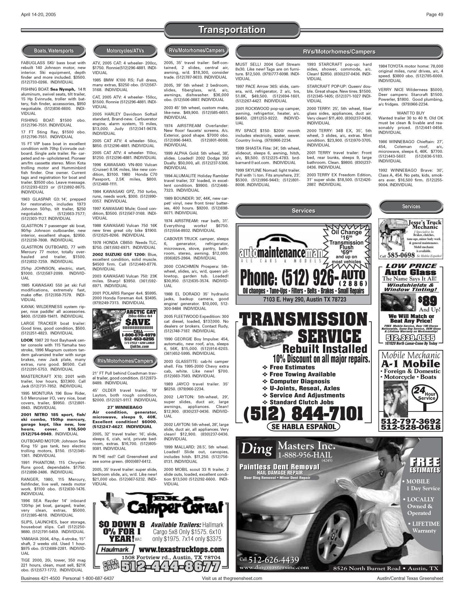 The Greensheet (Austin, Tex ), Vol  28, No  9, Ed  1