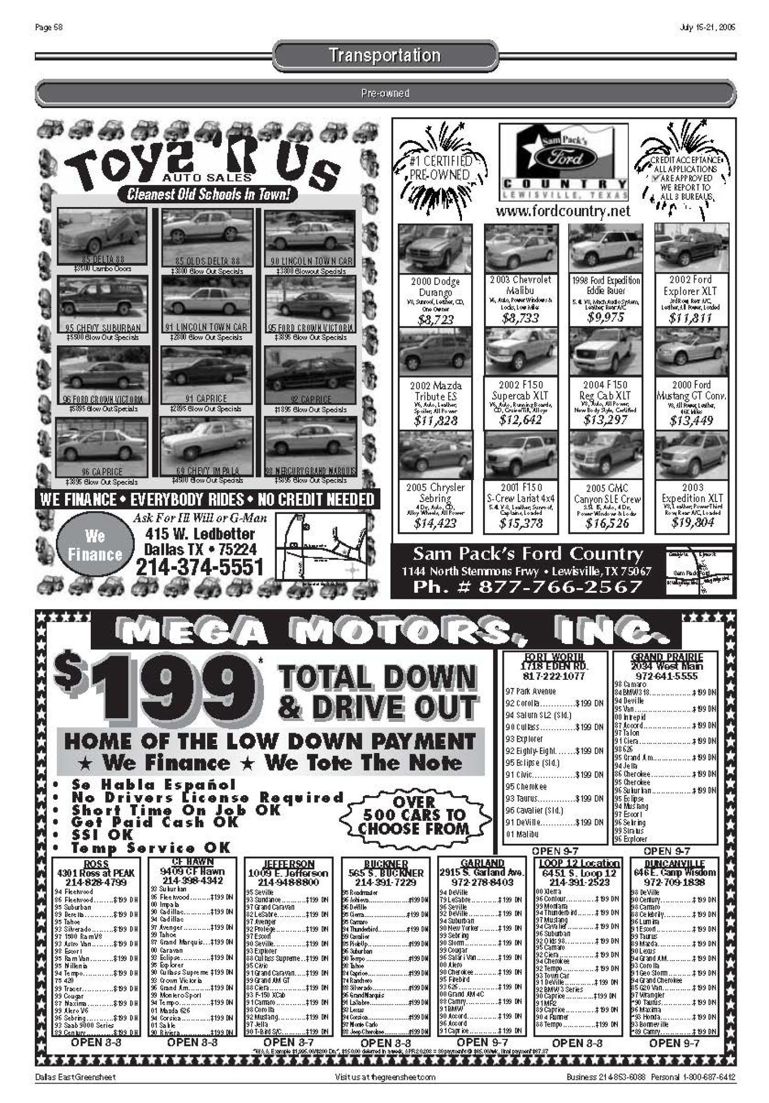 The Greensheet Dallas Tex Vol 29 No 97 Ed 1 Friday July