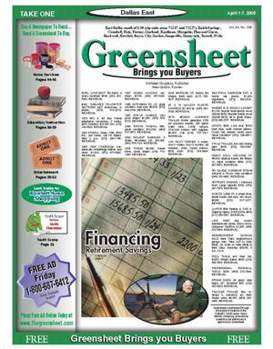 Primary view of object titled 'The Greensheet (Dallas, Tex.), Vol. 28, No. 339, Ed. 1 Friday, April 1, 2005'.