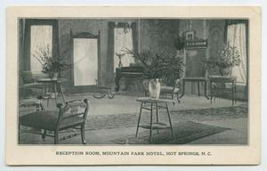 Primary view of object titled '[Postcard of Mountain Park Hotel in Hot Springs, North Carolina]'.