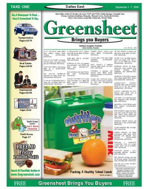 Primary view of object titled 'The Greensheet (Dallas, Tex.), Vol. 30, No. 146, Ed. 1 Friday, September 1, 2006'.