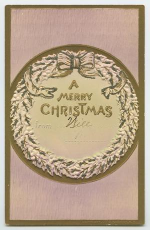 Primary view of object titled '[Christmas Postcard]'.