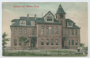 Primary view of object titled '[Postcard of Recitation Hall at Simmons College]'.