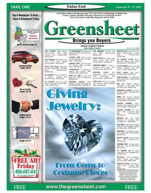 Primary view of object titled 'The Greensheet (Dallas, Tex.), Vol. 31, No. 258, Ed. 1 Friday, December 21, 2007'.
