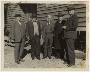 Primary view of object titled '[Photograph of a Group of Men with Sam Rayburn]'.