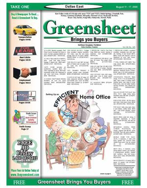 Primary view of object titled 'The Greensheet (Dallas, Tex.), Vol. 30, No. 125, Ed. 1 Friday, August 11, 2006'.
