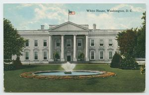 Primary view of object titled '[Postcard of the White House]'.