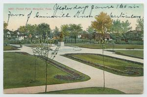 [Postcard of Forest Park in Memphis, Tennessee]