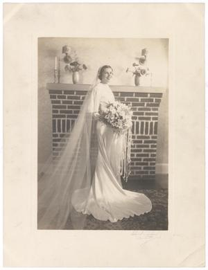 Primary view of object titled '[Portrait of a Bride]'.