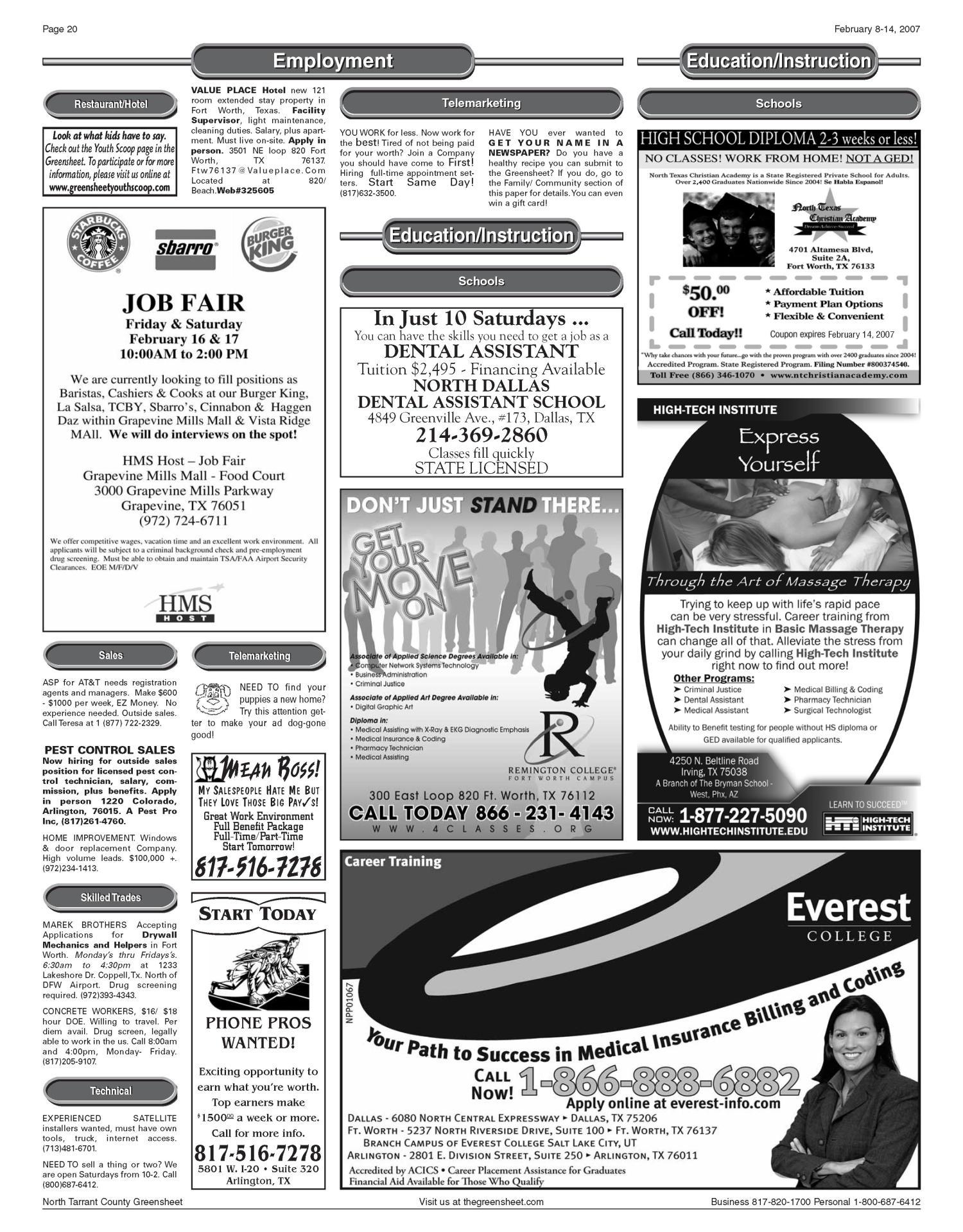 The Greensheet Fort Worth Tex Vol 30 No 305 Ed 1 Thursday