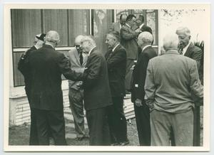 Primary view of object titled '[Photograph at Sam Rayburn Library Dedication Day]'.