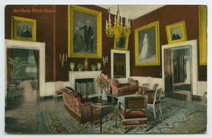 Primary view of object titled '[Postcard of the White House's Red Room]'.