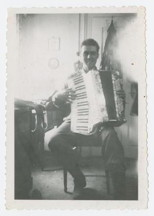 Primary view of object titled '[Man with Accordion]'.