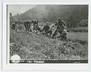 Primary view of object titled '[56th Armored Infantry Battalion Mortar Team]'.