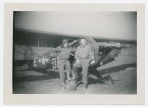 Primary view of object titled '[Glover and Edwards by Airplane]'.