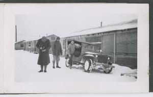 Primary view of object titled '[Men by Jeep]'.