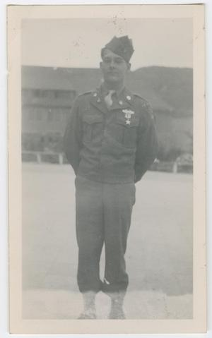 Primary view of object titled '[William Hahn Wearing a Silver Star]'.