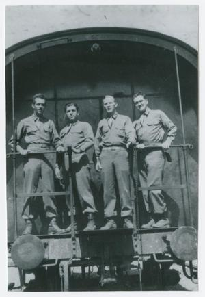 Primary view of object titled '[Four Soldiers]'.