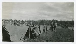 Primary view of object titled '[Row of Pup Tents]'.