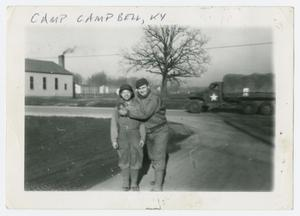 Primary view of object titled '[Two Men at Camp Campbell]'.