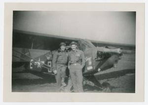 Primary view of object titled '[Soldiers in Front of Airplane]'.