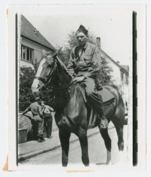 Primary view of object titled '[Joseph Stryzik on Horseback]'.