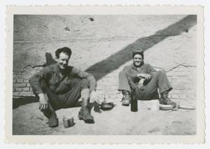 Primary view of object titled '[Two Men Sitting]'.