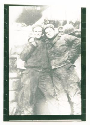 Primary view of object titled '[Richard Acker and Macenter Embracing]'.