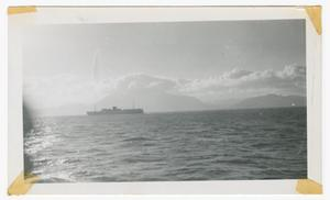 Primary view of object titled '[Ship Near the Coast of Northern Africa]'.