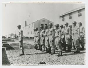 Primary view of object titled '[Soldiers in Formation at Camp Campbell]'.