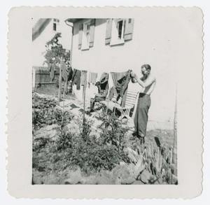 Primary view of object titled '[Wash Day in Germany]'.