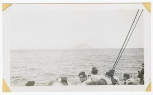 Primary view of object titled '[Soldiers on a Ship Passing the Rock of Gibraltar]'.