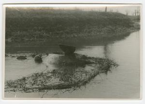 Primary view of object titled '[Submerged Sherman Tank]'.