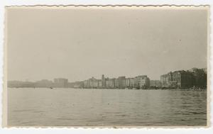 Primary view of object titled '[Waterfront of a European City]'.
