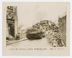 Primary view of object titled '[Tank in Erbach]'.