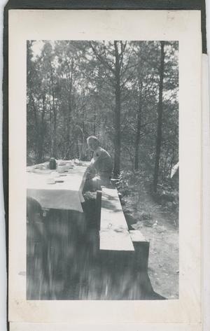 Primary view of object titled '[Soldier at Table]'.