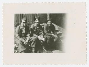 Primary view of object titled '[Three Men Sitting Together]'.