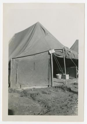 Primary view of object titled '[Camp Lukcy Strike Tents]'.