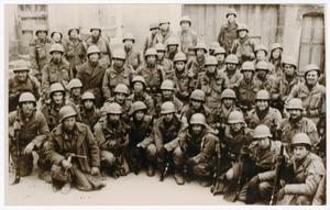Primary view of object titled '[Second Platoon of Company C, 56th Armored Infantry Battalion]'.