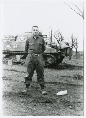 Primary view of object titled '[Sergeant by Tank]'.