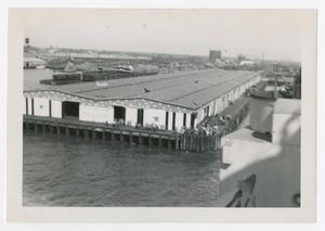 Primary view of object titled '[Dock in Hampton Roads]'.