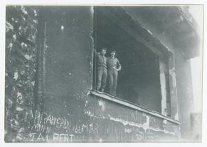 Primary view of object titled '[Soldiers in Hitler's Retreat]'.