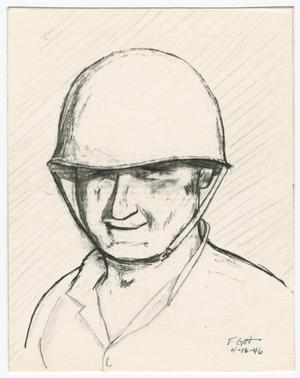 Primary view of object titled '[Drawing of Edward Ostrach]'.